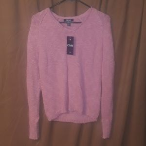 ** Chaps Long Sleeve knit Sweater in Spring Pink